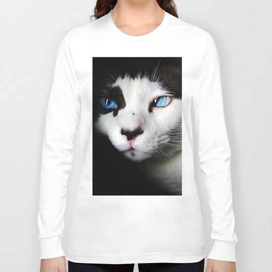 Cat siamese blue eyes Long Sleeve T-shirt