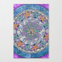 Starfish Mandala Canvas Print