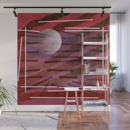Direction and planet Wall Mural