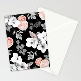 Night bloom - moonlit flame Stationery Cards