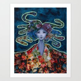 Mystic Bloom Art Print