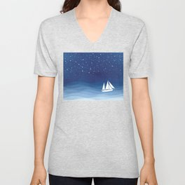 big dipper, sailboat Unisex V-Neck