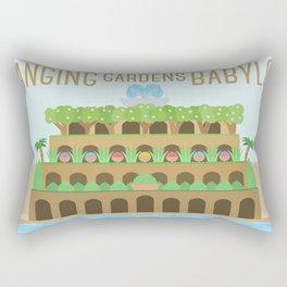 World Wonder: Hanging Gardens of Babylon Rectangular Pillow