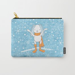 Bunny and Snowflakes_2 Carry-All Pouch