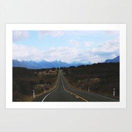 Mountain Road II (Wanaka, New Zealand) Art Print