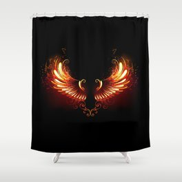 Fire Wings Shower Curtain