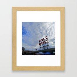 Pike Place Market Sign Framed Art Print