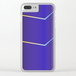 Zig Zag Lines Purple Clear iPhone Case