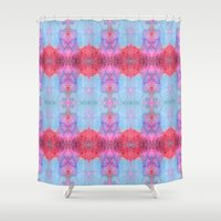 drums Shower Curtains featuring Drums and Parasols by SHI Designs