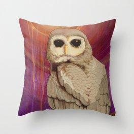 Skulking by Owl Light Throw Pillow