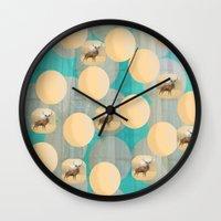 random Wall Clocks featuring Random by Megan Spencer