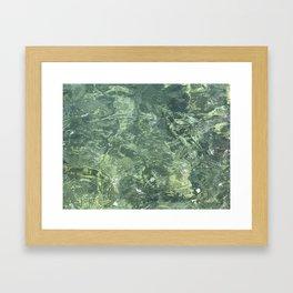 Marbled effect water Framed Art Print