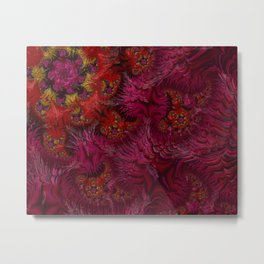Feathered Pink Metal Print