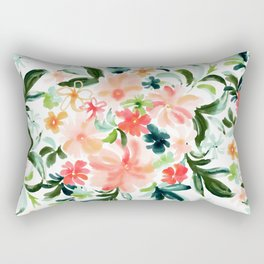 SMELLS LIKE OAHU Floral Rectangular Pillow