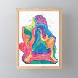 Facing Colors: Abstract Rainbow Painting Framed Mini Art Print