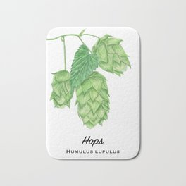 Beer Hops Botanical Painting Bath Mat