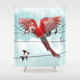 COLORFUL STRANGER Shower Curtain