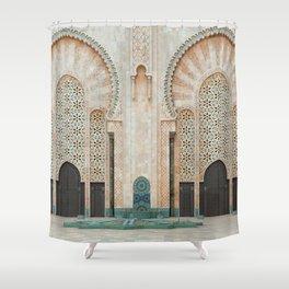 Mosque Hassan II in Casablanca, Morocco Shower Curtain