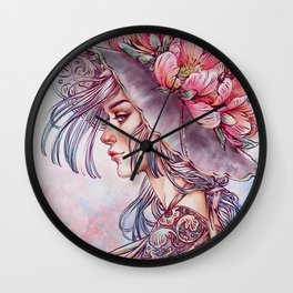 Spring Wind Witch Wall Clock