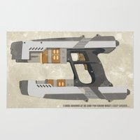 star lord Area & Throw Rugs featuring STAR LORD - PETER QUILL by LindseyCowley
