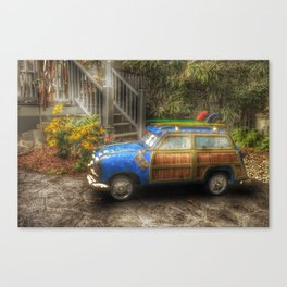 Off to Fulfill a Surfing Dream Canvas Print
