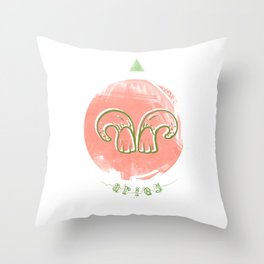 Aries - Teeth Zodiac Throw Pillow