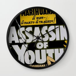 Anti-hemp old poster Wall Clock