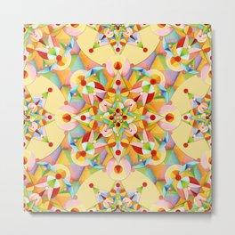 Pastel Mandala Rainbow Metal Print