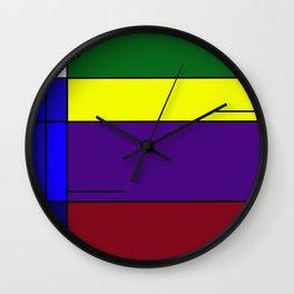 Colorful Line Design Wall Clock