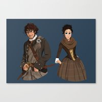 outlander Canvas Prints featuring Sing me a song by Theanimatedlife