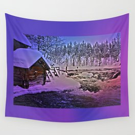 Water mill in Oulanka National Park Wall Tapestry