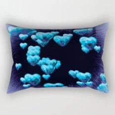 blue hearts Rectangular Pillow