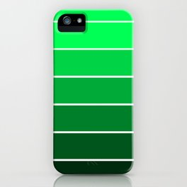 Sea Green Ombre iPhone Case