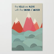 Music Hills Canvas Print