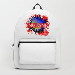 England Red White And Blue Cartoon Exclamation Backpack