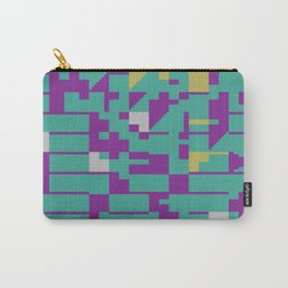 Abstract 8 Bit Art Carry-All Pouch