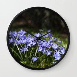 Blue Scilla Wall Clock