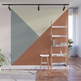Origami Geo Tile // Terracotta Wall Mural