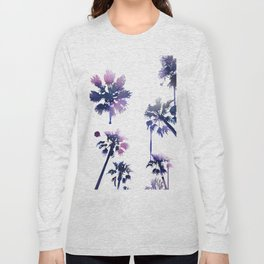 Sunset Palm Trees Long Sleeve T-shirt