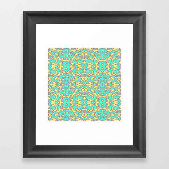 Electric Pattern Framed Art Print