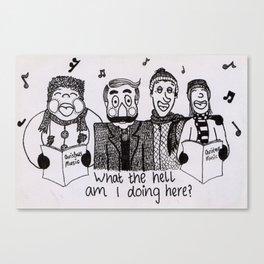 Awkward Christmas Carolling Canvas Print
