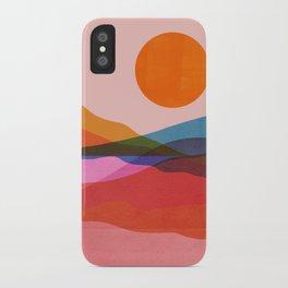 Abstraction_OCEAN_Beach_Minimalism_001 iPhone Case