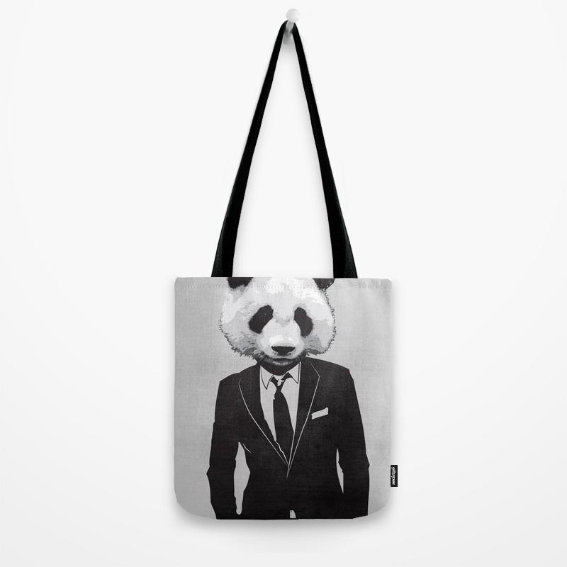 c46ae4890 Panda Suit Tote Bag by skinnnyboy   Society6