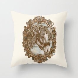 Ornate Horse Portrait Throw Pillow