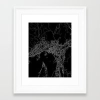 oslo Framed Art Prints featuring Oslo by Line Line Lines