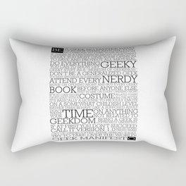 Proud Geek Manifesto Rectangular Pillow