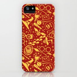 POTTER MAGIC WIZARDS AND WITCHES WORLD PATTERN iPhone Case