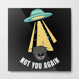Not you again - Alien catches a spider Metal Print