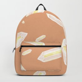 Ethereal Glow Crystals Peach Backpack