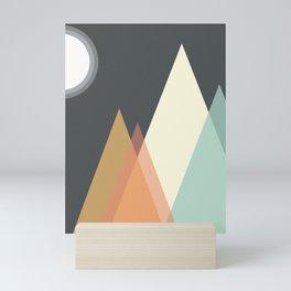 Mountain Pastel Minimalistic Geometric Triangles Mini Art Print